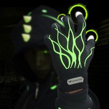 Unisex acrylic Winter Magic Finger The Green Giant Touch Screen noctilucent Gloves