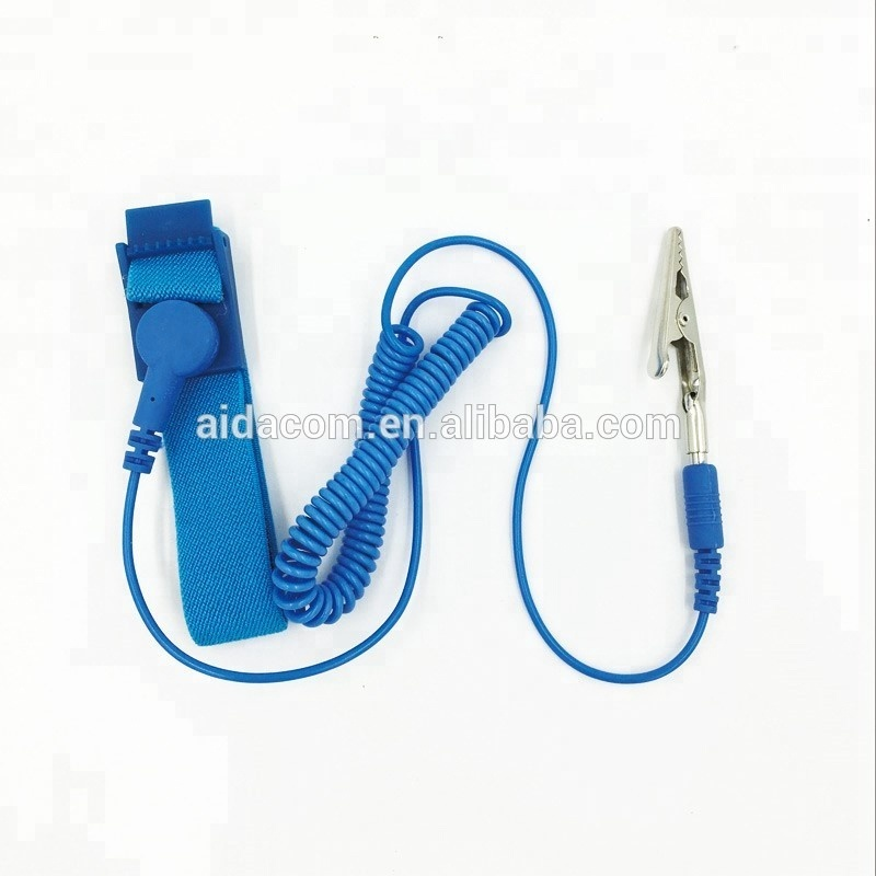 Anti-allergic ESD wrist strap,16pcs conductive fiber,ESD Antistatic wrist strap