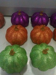 wholesale artificial pumpkins with glitters for harvest home decoration