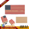 Customize flag Wood USB flash drive 1GB-256gb
