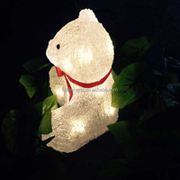 2016 new Outdoor led light led Acrylic Polar Bear motif light christmas decoration