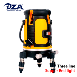 Dual Color Handy Cross Three Super Red Light Line Laser Level