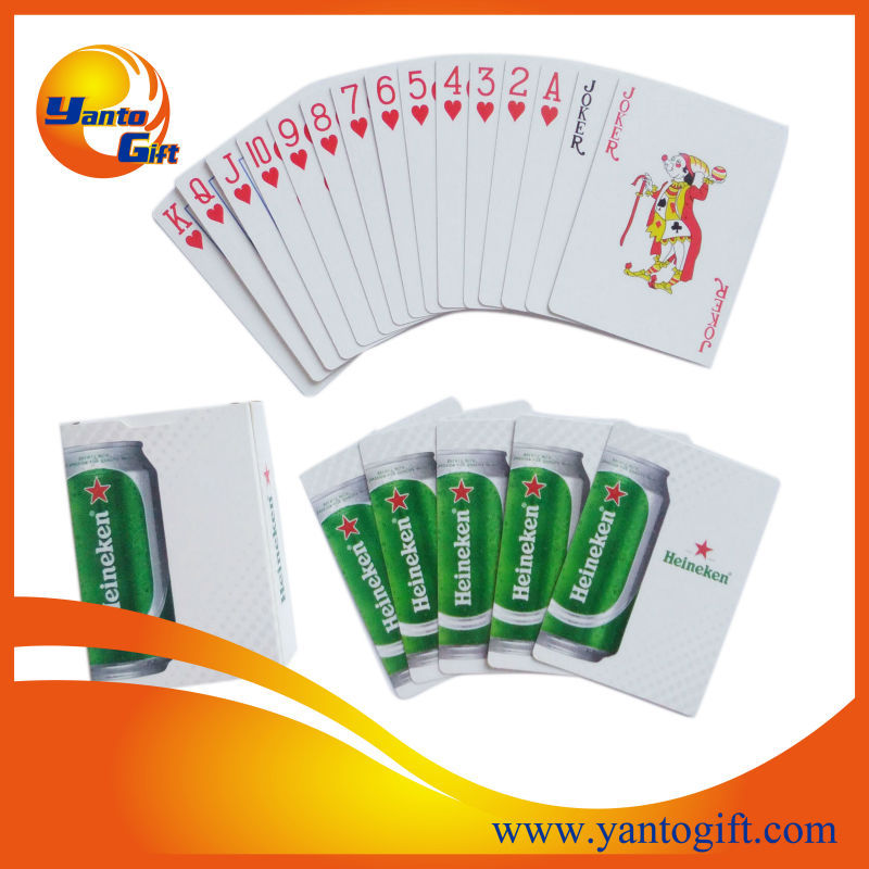 Logo printed plastic playing cards