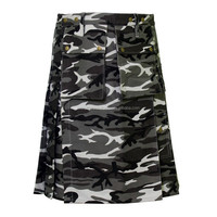 Men Urban Camouflage Police Army Military Forest Cargo Utility Kilt