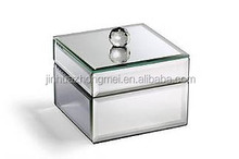 Small wonderful mirrored glass jewelry box