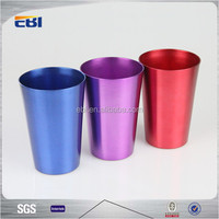 Colorful aluminum wholesale drinking cups