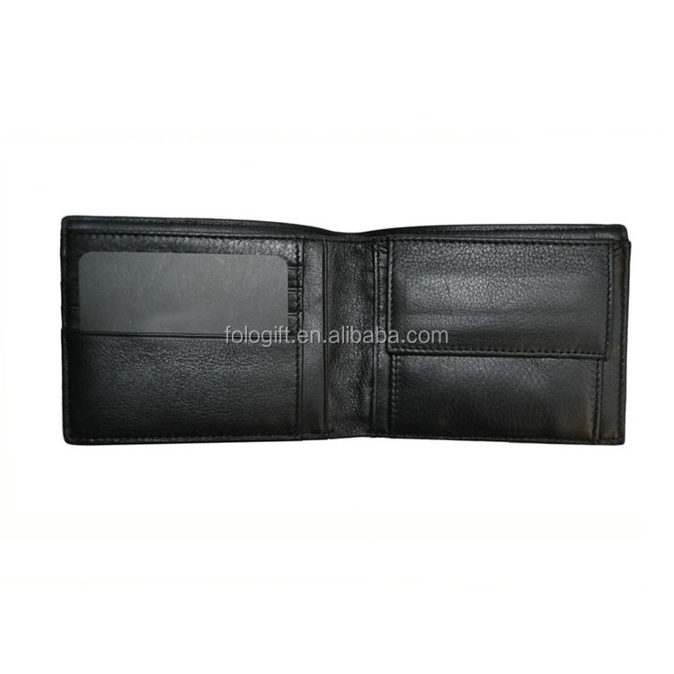 Black New Sale Vintage Men Vertical Style Cow Leather Wallet Designer Carteras Money Clip Purse