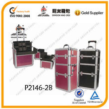 professional hairdresser case, trolley aluminum cosmetic case, trolley makeup case