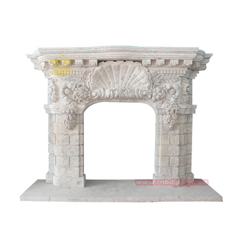 Best Selling Customized Design Marble Travertine Fireplace