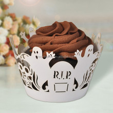 High quality folding paper wrappers handmade cake cup wraps devil design