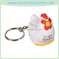 Chicken Key Chain Squeeze Toy