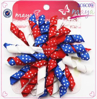 Colorful Flag Day korker hair clip(approved by BV)
