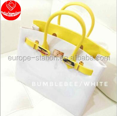 yellow white matched jelly bags hot sale 2017