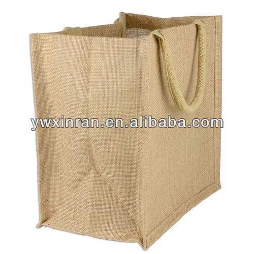 "12"" x 12"" x 7.75"" Jute Euro Gift bag Great for party favor bags especially for weddings"