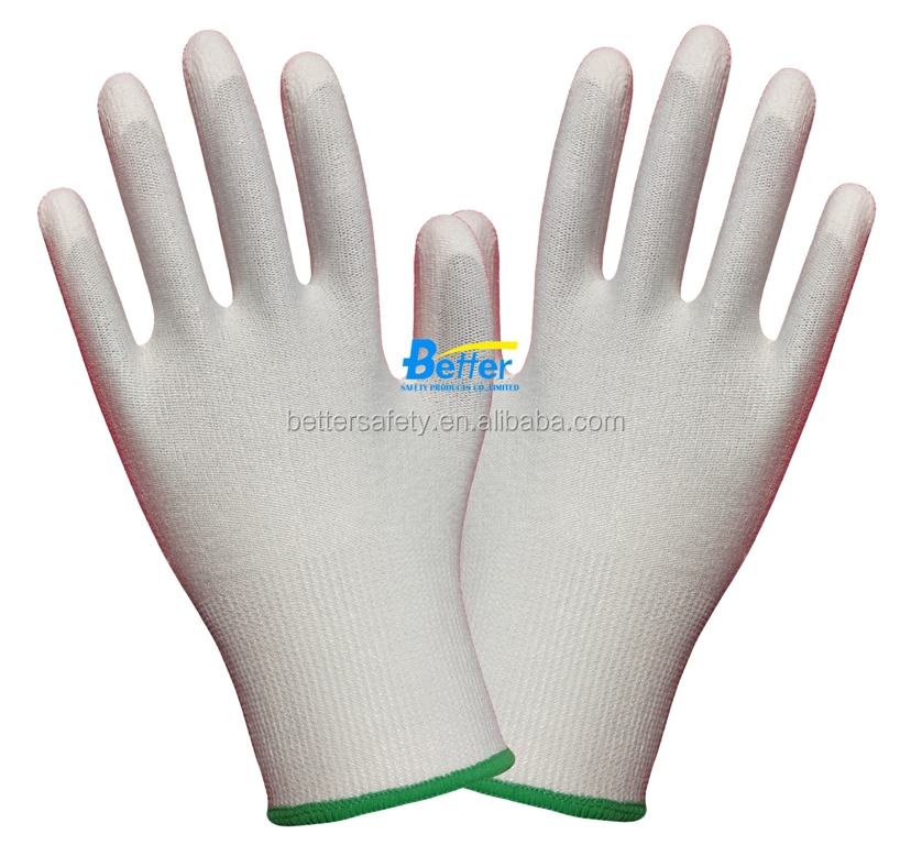 13 Guage White HPPE Coated White PU Cut Resistant Gloves Discount