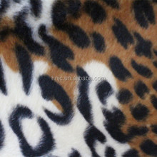 animal printed pattern polyester knitting leopard short pile velvet Fabric