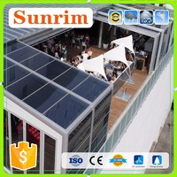 Modern style aluminum alloy frame glass houses used sunroom