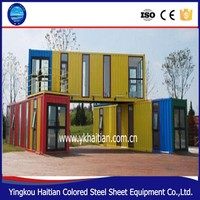 Low Cost living 20ft prefabricated container house price custom 20ft prefab shipping container house for sale