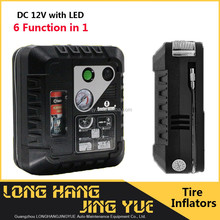 2016 newest 12v tire inflator / tyre sealant car inflator pump / with SOS LED portable tire inflator