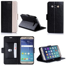 2016 China Wholesale Smart Leather Mobile Phone Case PU+TPU Shockproof Case With Card Holder For Samsung A8