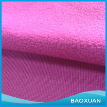 100%Polyester DTY brush one sides and anti-pilling one side rose red micro polar fleece fabric for blanket or house-wrap