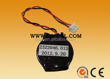 3V LiMnO2 Battery cr2032 cmos battery with wires and connector