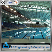 Long span steel structure swimming pool roof