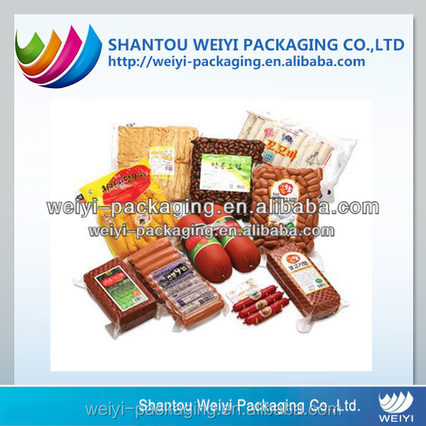 custom food grade compressed plastic vacuum bag pouch with label printing