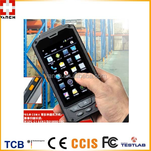 Portable Android 4.2.2 O/S UHF RFID Mobile Terminal Reader