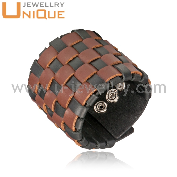 wholesale hot design comfortable real leather material wristband for wrist safety
