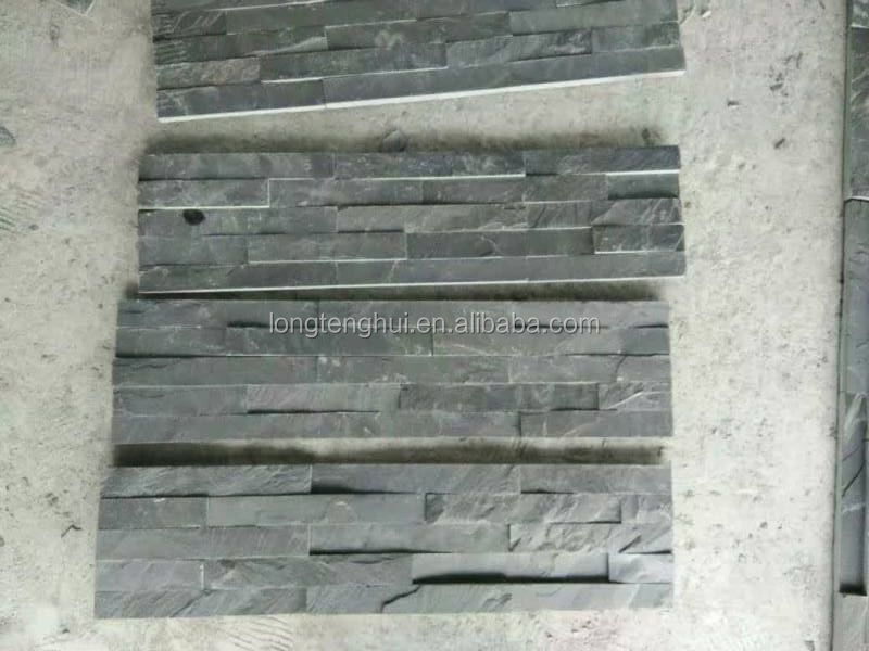 Cut-To-Size Stone Form Natural Black slate culture stone