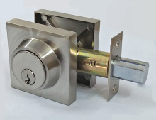 Kaiying OEM Schlage Keyway Double/Single Cylinder Deadbolt Door lock, Brushed Satin Nickel