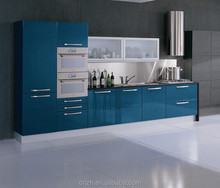 Ready made mdf glossy laminate lacqure simple kitchen designs for small kitchens