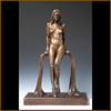 Naked female art of western style bronze nude girl sculpture