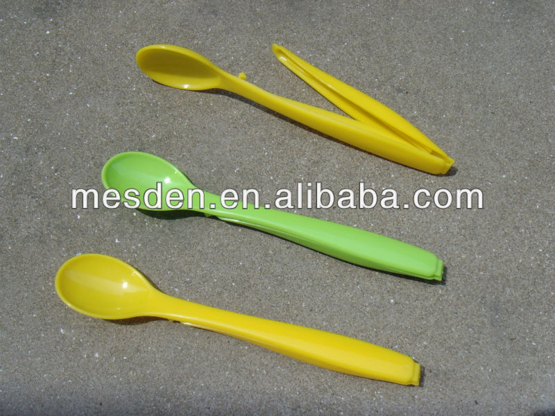 Promotional Plastic Food Bag Clip with Spoon / Plastic Bag Clip with Spoon