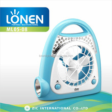 LONEN 24+1 LED emergency night Lamp cum rechargeable portable battery fan
