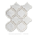 new design white arabuesque waterjet marble mosaic tiles