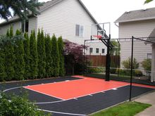 Low price plastic interlock basketball outdoor courts