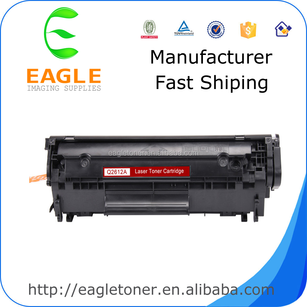 2015 Hot Selling Factory Supplies Compatible For HP Q2612A 12A Toner Cartridge 1010 1020 LaserJet Printer