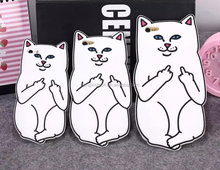 3D Cute Ripndip Pocket Cat Animal silicone Rubber Cell Phone Cover Cases for iphone6/6plus/6s/6splus/5s/se