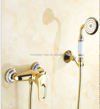 High Quality gold plated bath shower set bath shower faucet