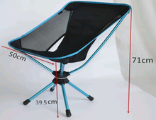 Outdoor Easy-carrying Lightweight Fishing Super Light Compact Moon Chair 7075 Aluminum 360 Swivel Camping Chair