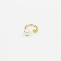 Zinc alloy wings shaped pearl ring designs for women