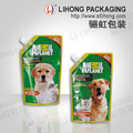 Stand up Shampoo Liquid Packaging Pouch with Corner Spout for Pet