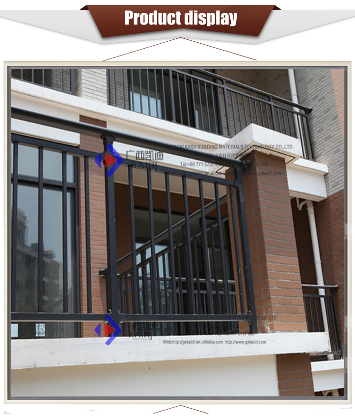 Black Galvanized Steel Balcony Balustrades
