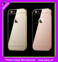 JESOY Best Selling Aluminum Ultra-thin Metal Bumper Mirror Phone Case For Apple iphone 5 5s 6 6s