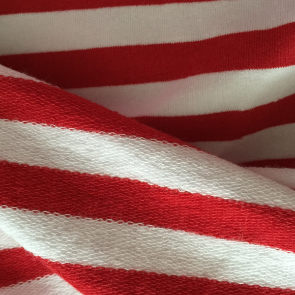 100% cotton striped terry cloth fabric