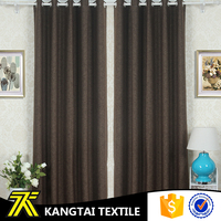 Shading effect is good, brown color wholesale hotel blackout curtain fabric