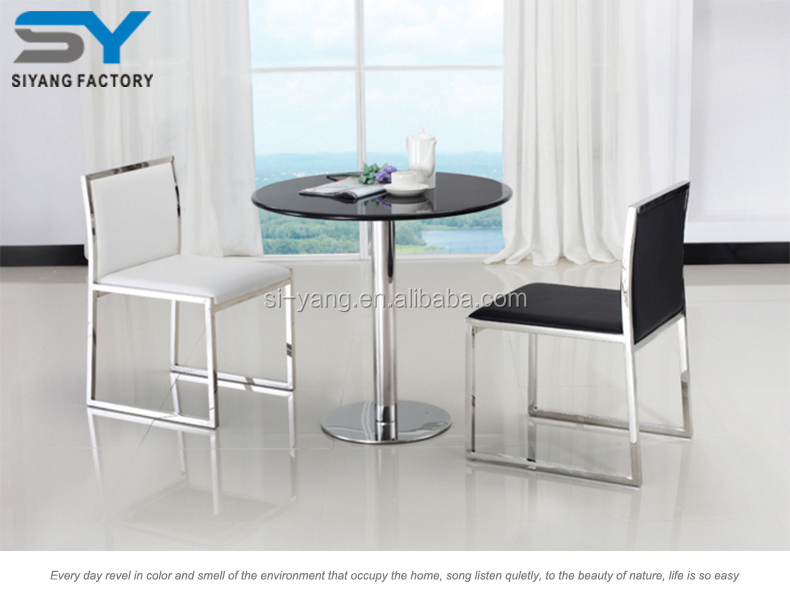Foshan furniture small kitchen table and chairs small garden high quality chair for sale CY039