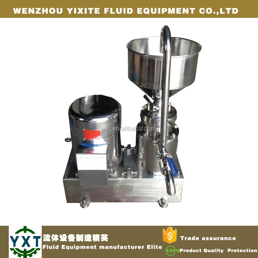 hot sale the newest type sanitary horzontal colloid mill vegetable tomato processing machine